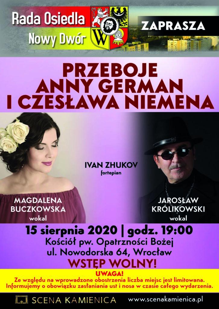 Plakat A3 Piosenki German i Niemena